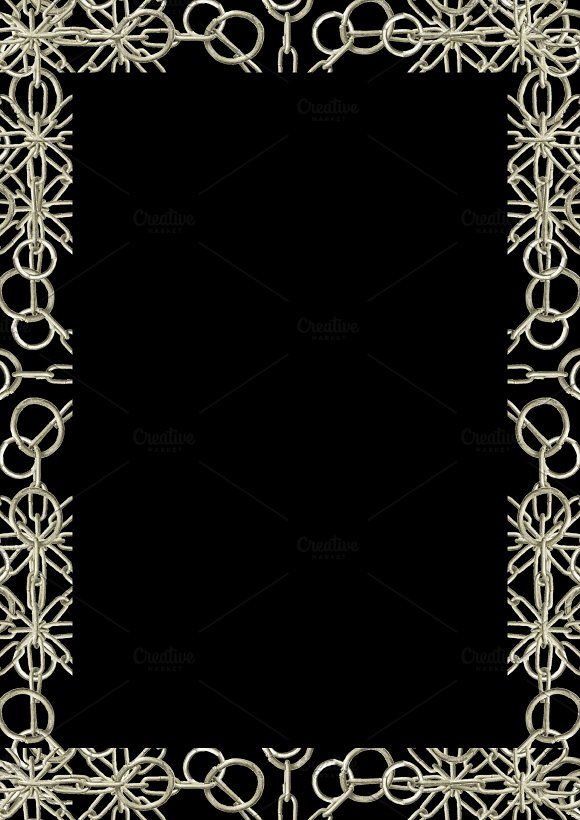 Black Frame With Ornate Decorated Borders
