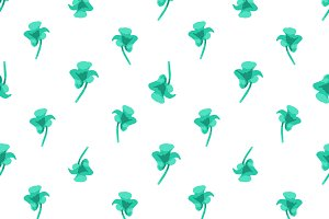 Flowers Silhouette Seamless Pattern Design