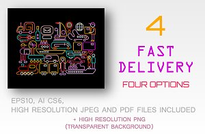 4 options Fast Delivery illustration