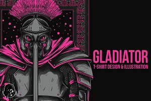 Gladiator Warrior Illustration