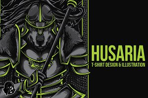 Husaria Warrior Illustration