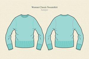 Women Classic Sweatshirt Pullover
