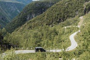 Winding Mountain Road in Summer