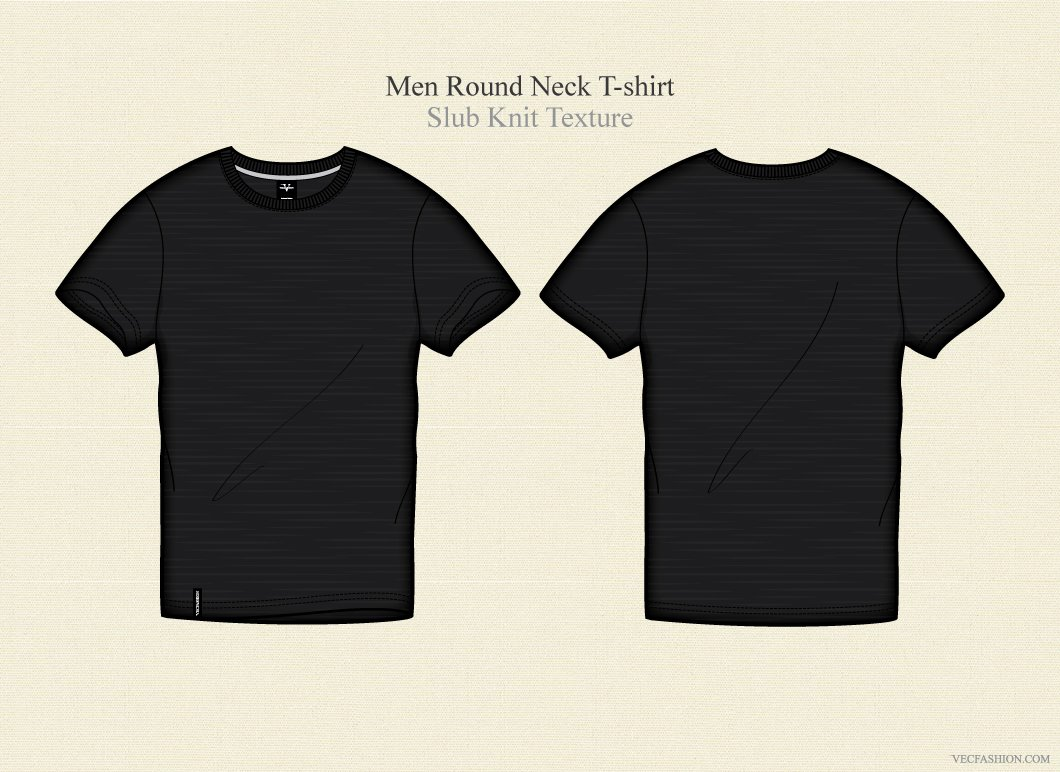 Men black round neck t shirt illustrations creative market for Shirts with graphics on the back