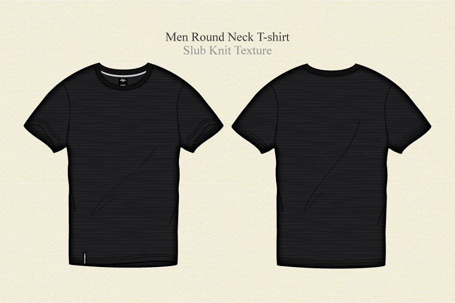 ddf605cd Men Black Round Neck T-shirt ~ Illustrations ~ Creative Market