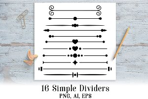 16 Simple Page Dividers