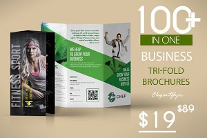 100 Tri-fold Brochures Budle 98% OFF