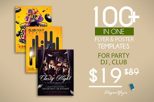 100 Party Flyers Bundle 98% OFF