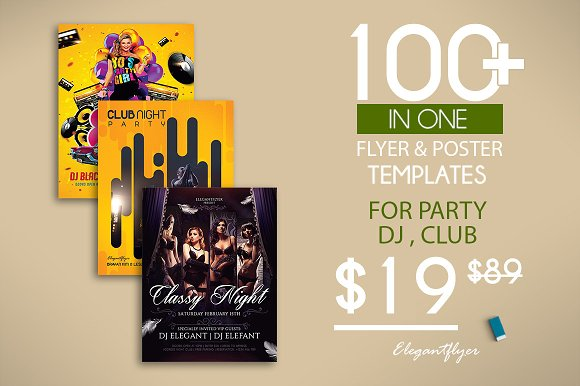 100 Party Flyers Bundle 98% OFF