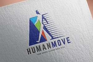 Human Move Logo Template