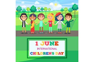 1 June International Childrens Day Poster of Kids