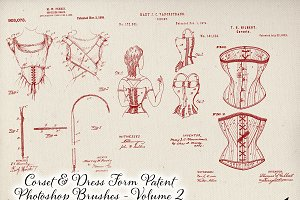 Corset & Dress Form Patent Brushes 2