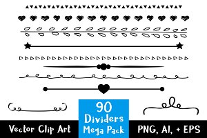 90 Simple Dividers Mega Pack