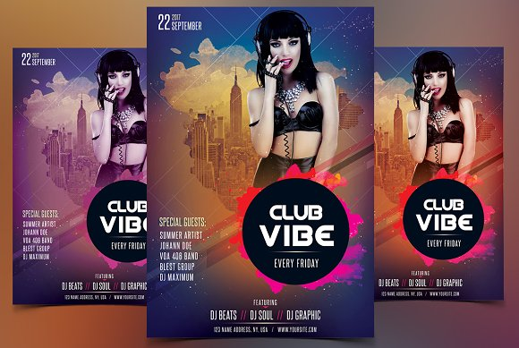 Club Vibe PSD Flyer Template