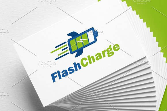 Flash Charge Battery Logo