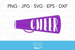Cheer Megaphone SVG Cut File