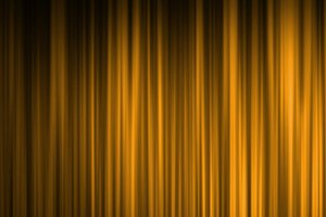 Gold stage curtain background
