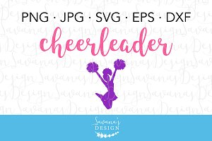 Cheerleader Clipart and Cut Files