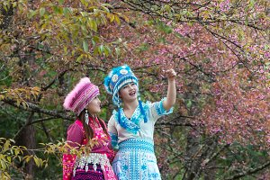 Portrait of Two Hmong girls