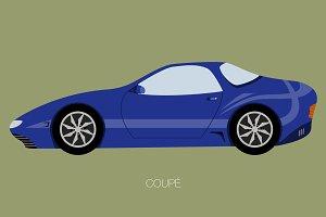 flat design style car