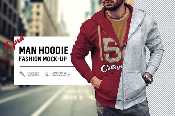 Free Man Hoodie Fashion Mock-Up