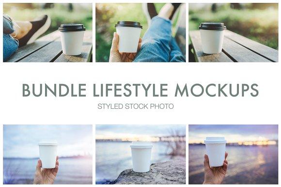 Bundle Lifestyle Mockups Cups