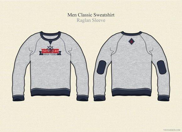 Men Sweatshirt Vector Jumper Illustrations Creative Market