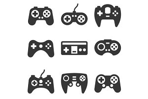 Gamepads Icon Set