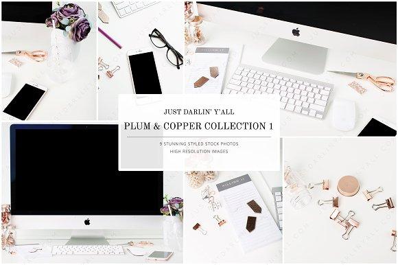 Plum Copper Styled Stock Photos