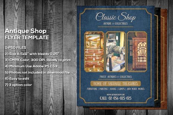Antique Shop Flyer Template