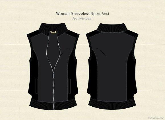 Woman Sleeveless Sport Jacket Illustrations Creative Market