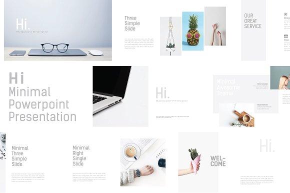 Hi Minimal Powerpoint Template