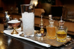 Bitters, infusions and mixing glass