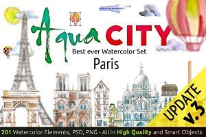 Watercolor set AQUA CITY Constructor
