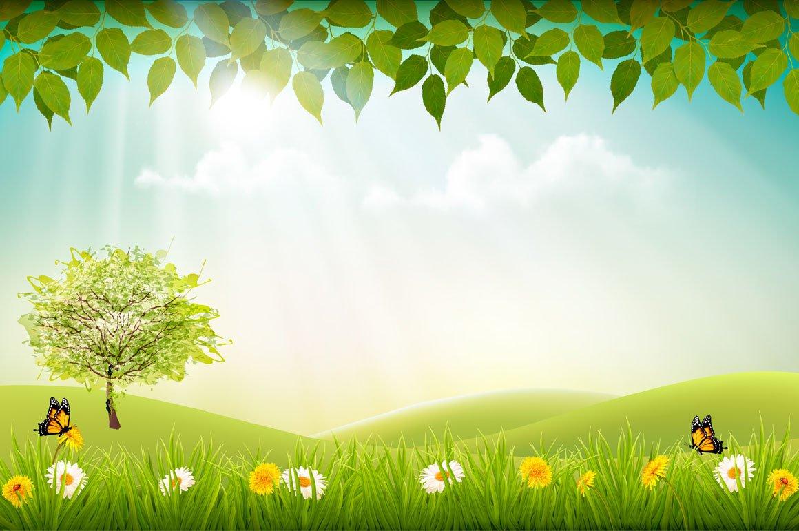 Summer nature background | Pre-Designed Illustrator ...