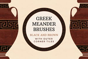 Black and brown meander brushes
