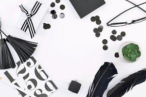 Black & White Modern Desk Mockup 5