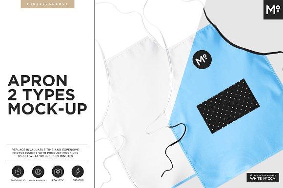Apron 2 Types Mock-up - Product Mockups