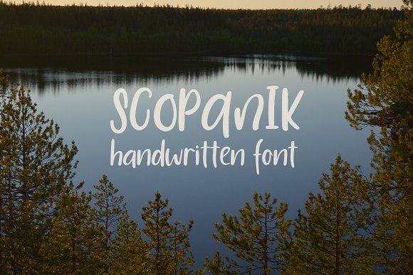 Scopanik Handwritten Font