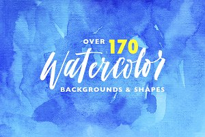 Big pack of watercolor backgrounds.