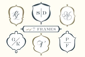 Set of 7 Frames & Crests