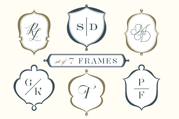 Set Of 7 Frames Crests