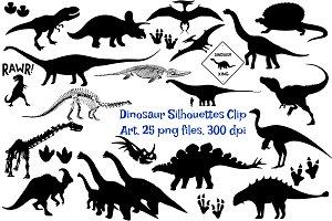 Dinosaur Silhouettes AI EPS & PNG