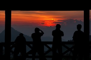 Silhouette of a photographers group