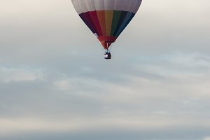 Multicolored Balloon in the blue sky