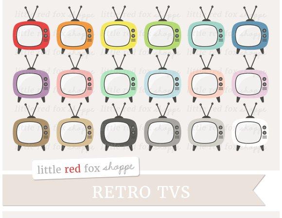 Retro TV Clipart