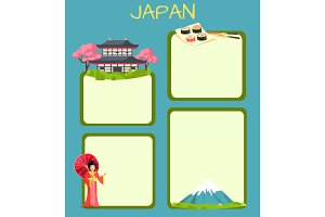 Japan Touristic Vector Concept with Copyspace