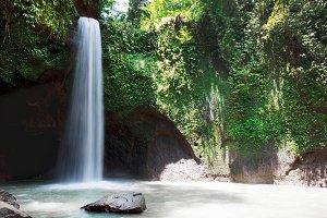 Beautiful Tibumana waterfall in bali