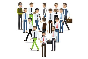 Businessmen Cartoon Characters Vector Collection