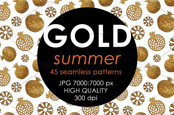 GOLD SUMMER Set Hand Painted